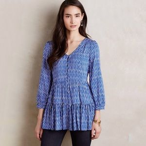 Anthropologie Maeve Lila Tiered Tunic